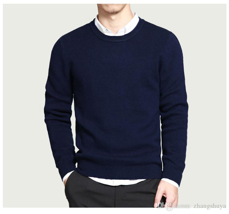 2018 Pure Cotton Sweaters Men Best Style O Neck Mens Sweaters Muls ...
