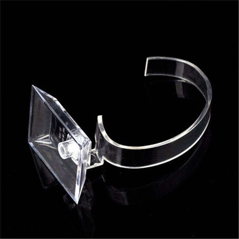 Art und Weise freier Acrylarmband-Uhr-Anzeigen-Halter-Bogen-geformter Schmuck-Stand-Gestell-Einzelhandelsgeschäft-Schaukasten