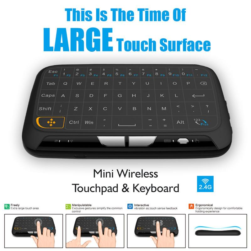 Newest H18 Mini 24g Wireless Keyboard With Touchpad Fly Air Mouse