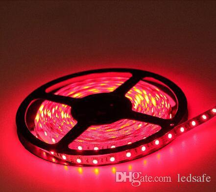 5M 12V LEDストリップライトSMD3528非防水24Wホリデー結婚式講堂の散歩装飾ストリップ16.4フィート12ボルト赤青の緑の暖かい白