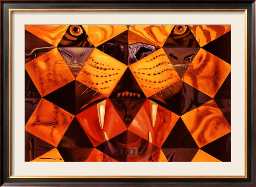 Salvador dali paintings for sale cinquenta tiger real for Real art for sale