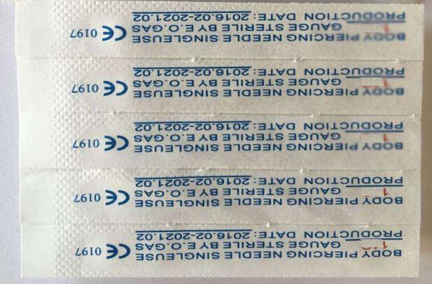 16G Piercing Needles 16G Sterile Disposable Body Piercing Needles 16G For Ear Nose Navel Nipple