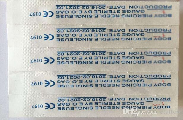 Piercing Nadeln 10G sterile Wegwerfkörper-Piercing Nadeln 10G für Ohr-Nasen-Nabel-Nippel Freies Verschiffen