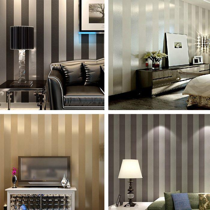 Living Room Wallpaper Stripes Backgrounds Plain Wall Paper