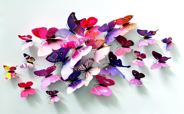 Farfalla Cenerentola Farfalla 3d decorazione adesivi murali farfalle 3d farfalle 3d farfalla in PVC rimovibile adesivi murali farfalla