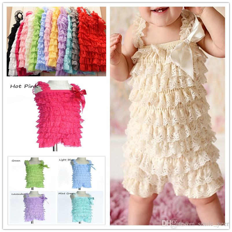 47963c6e4c28 2019 Petti Romper Baby Lace Romper Girls Romper Baby Romper Ruffle Romper  Lace Dress Baby Outfit Flower Headband From Smile yeer
