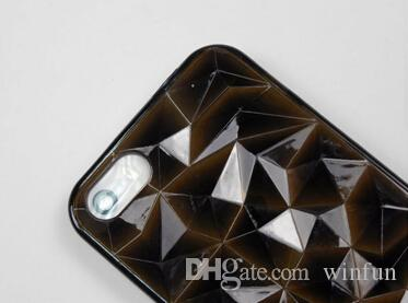 For iPhone 4 4s 3D Diamond Cube Tpu Rubber Case,Colorful Transparent Diamond Pattern 3D Cube Tpu Case For iPhone 4s