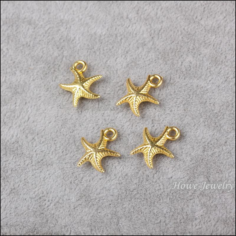 Fashion Charms Animali Starfish lega oro pendente metallo adatto bracciali collana accessori gioielli fai da te trovare 180 pezzi 17 * 14mm 800110