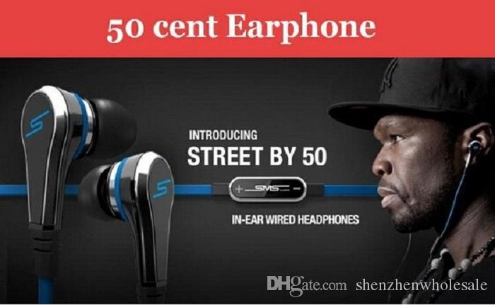 Отличный мини 50 центов с микрофоном и кнопка отключения звука аудио 50 центов наушники-вкладыши наушники улица на 50 центов