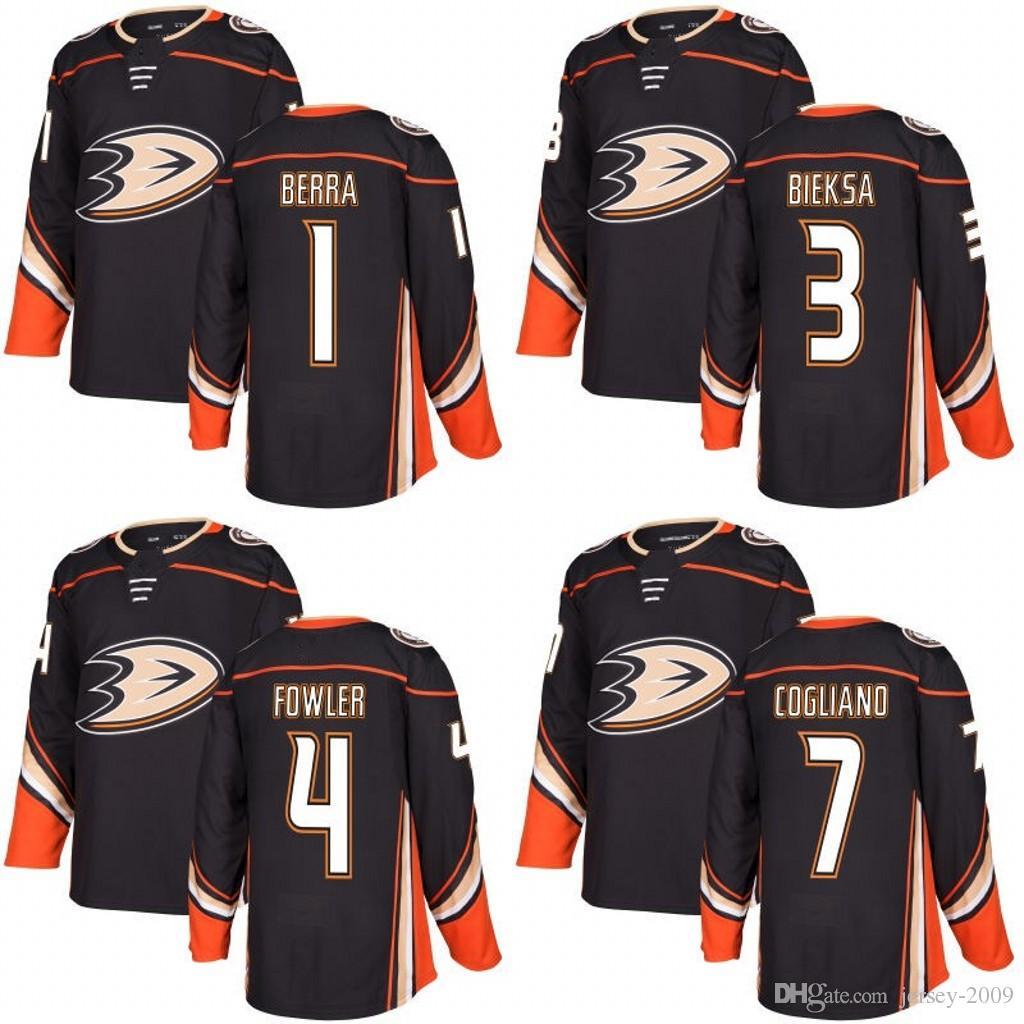 9a22e6106 Anaheim Ducks 2017-2018 Season Jersey 1 Jonathan Bernier 4 Cam ...