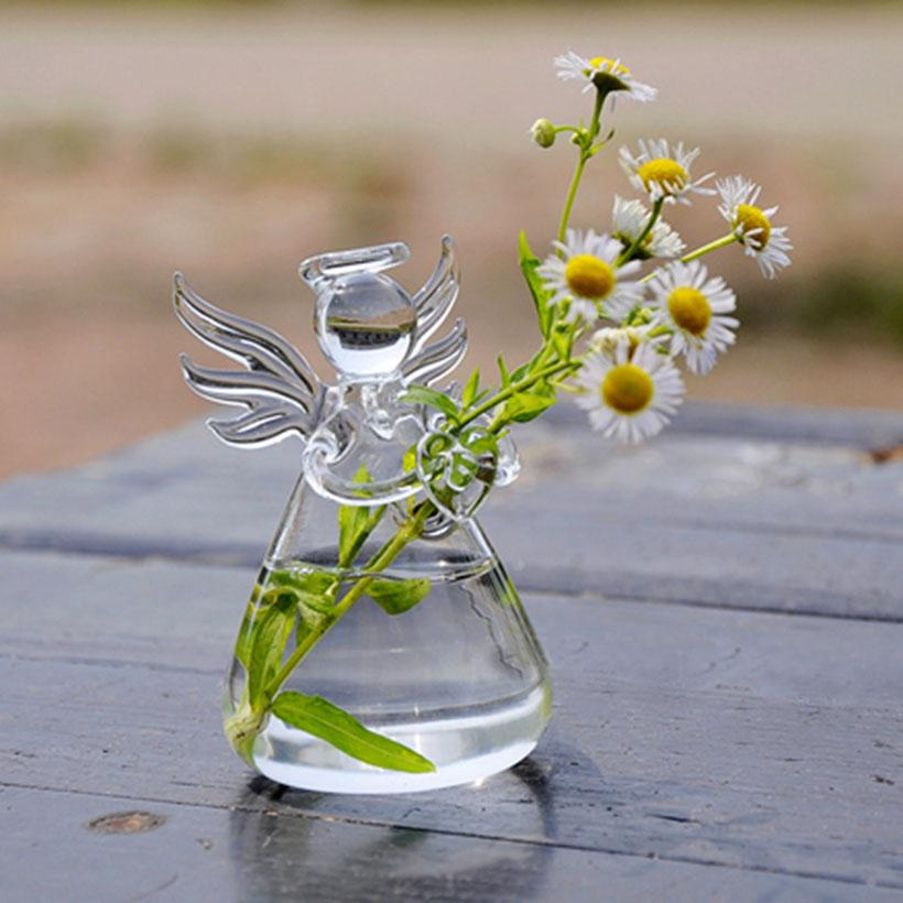 angel glass vase flower pots planters home decorative vase wedding decoration christmas tree decors gift for beloved vase panter tall wedding vases teal - How To Decorate Glass Vases For Christmas