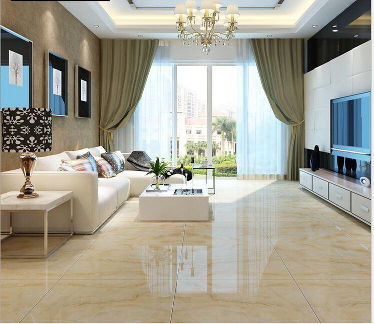Floor Tiles 800x800 Living Room Full Cast Glazed Tiles Non Slip Waterproof  3d Ceramic Tiles