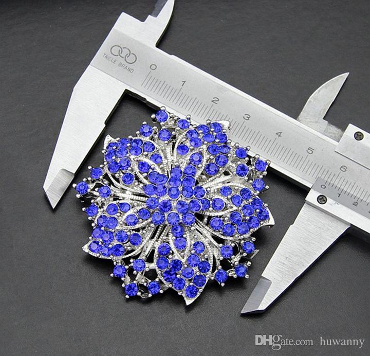 أعلى درجة فضة دبابيس الساخن بيع الأزياء الجديدة كريستال حجر الراين زهرة باقة الفراشة دبابيس بالجملة السفينة الحرة - 0038DR