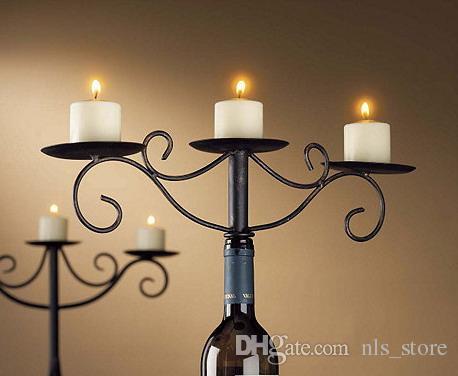 Großhandel Metall Eisen Weinflasche Kerzenhalter Teelicht Kerzenhalter Tisch  Herzstück Für Dekoration Hochzeitsdekoration, Wbh 201505023 Von Nls_store,  ...