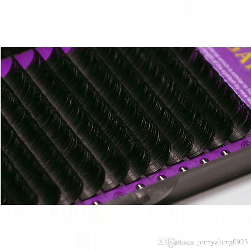J B C D Curl Länge 8-15 mm Künstliche Nerz-Wimpernverlängerung 0,07 mm Dicke Einzelne Nerz-Wimpern-Wimpern