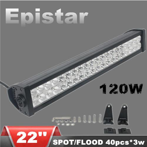 22 inch 120w epistar led light bars spot flood combo beam car led 22 inch 120w epistar led light bars spot flood combo beam car led working light for offroad truck suv tractor jeep boat portable rechargeable led work light aloadofball Image collections