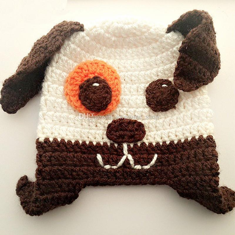 Compre Adorable Cachorro Con Orejeras Y Sombrero Hecho A Mano De ... a03661517f5