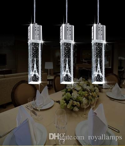 2015 New Fashion Led Lamp Crystal Pendant Lights Tower