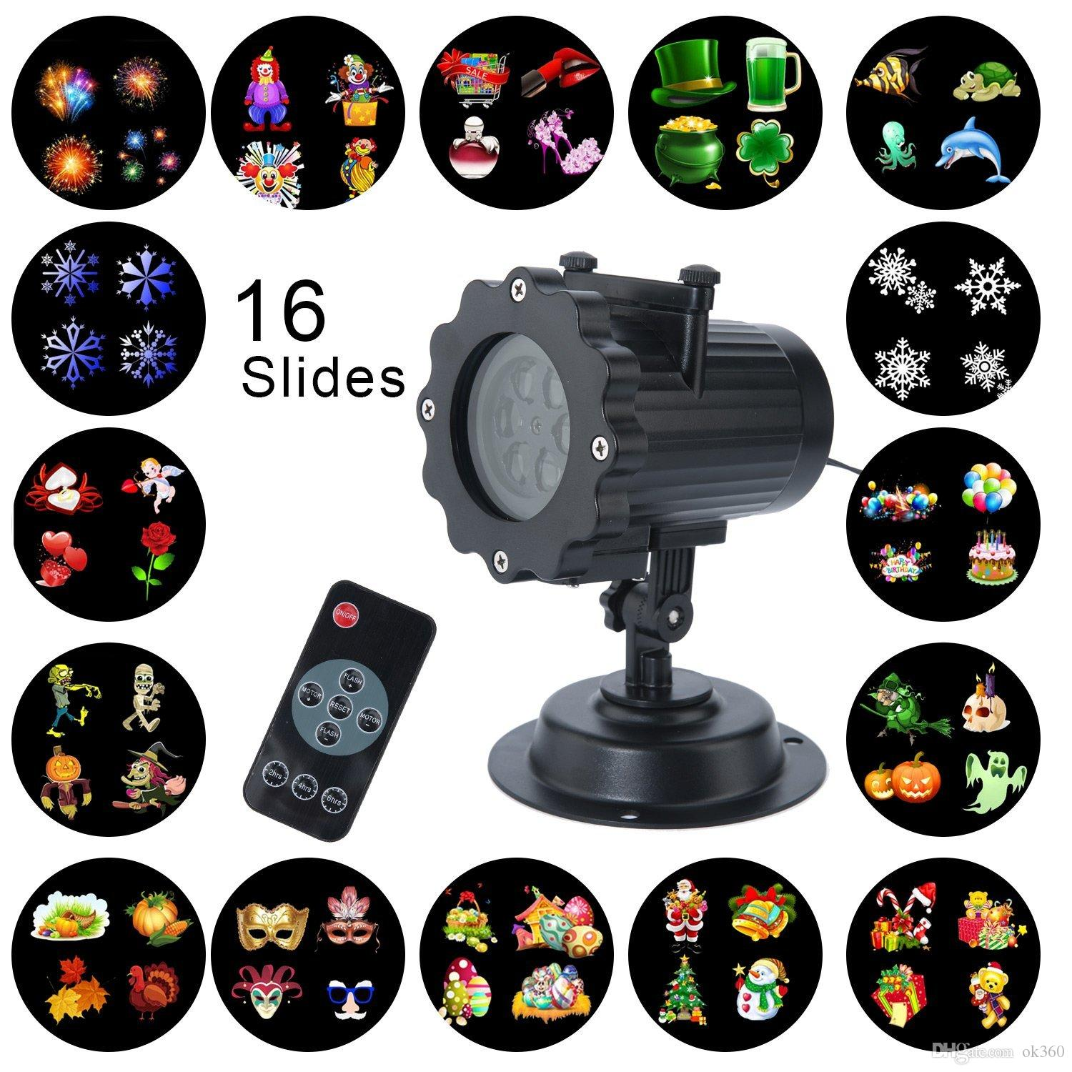 LED Christmas Light Projector 16 Patterns Waterproof Landscape
