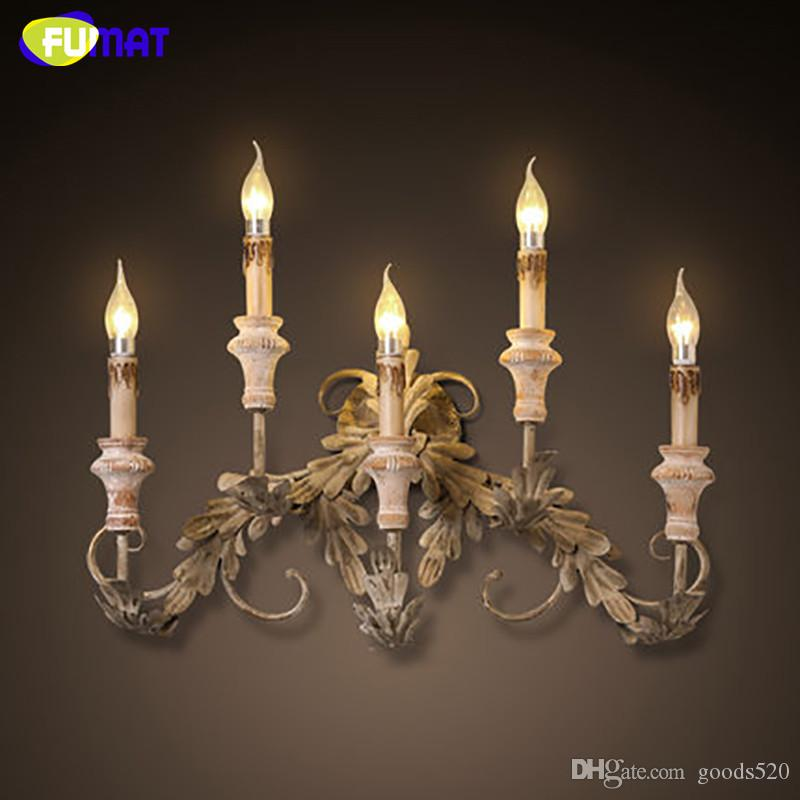 2018 Fumat European Vintage Wall Sconces Candle E14 Led Industrial