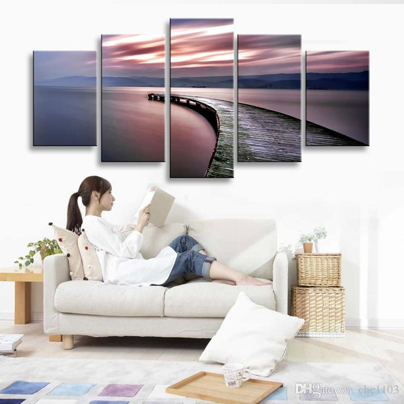 high-definition print abstract canvas oil painting poster and wall art living room picture PL5-201