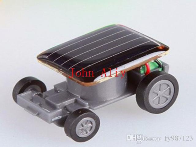 Wholesale Hot sale Popular Smallest Mini Car Solar Powered Toy Car New Mini Children Solar Toy Gift Free shipping