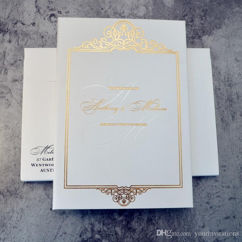 Acquista Eleganti Inviti Di Nozze Bicolore Con Copertina Rigida Di