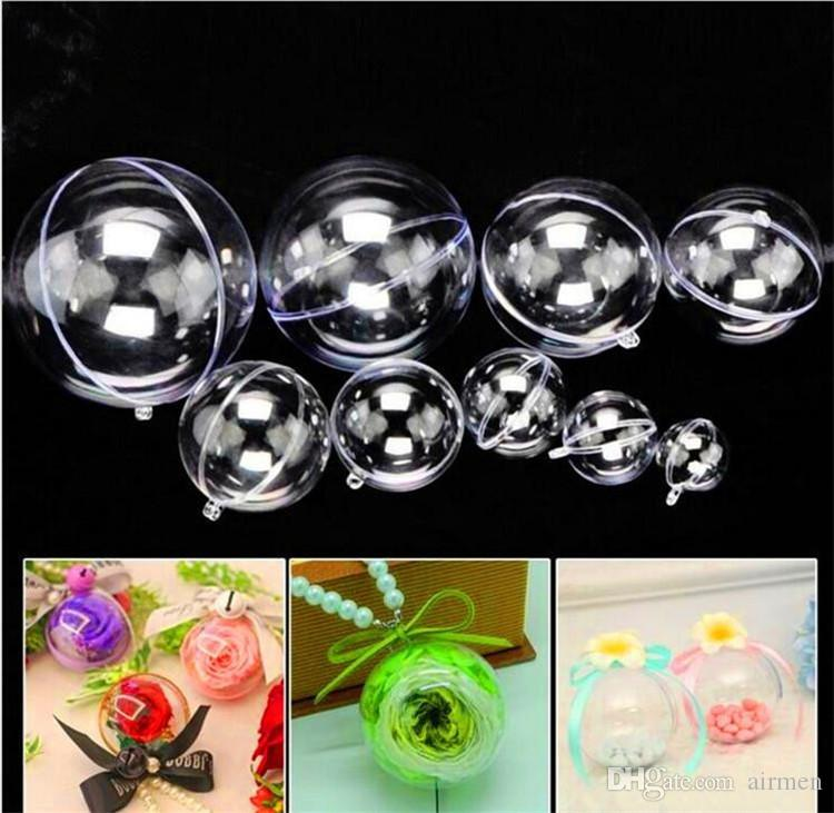 christmas decorations openable transparent plastic christmas ball baubles 4cm to 146cm christmas tree ornament party wedding clear balls christmas yard