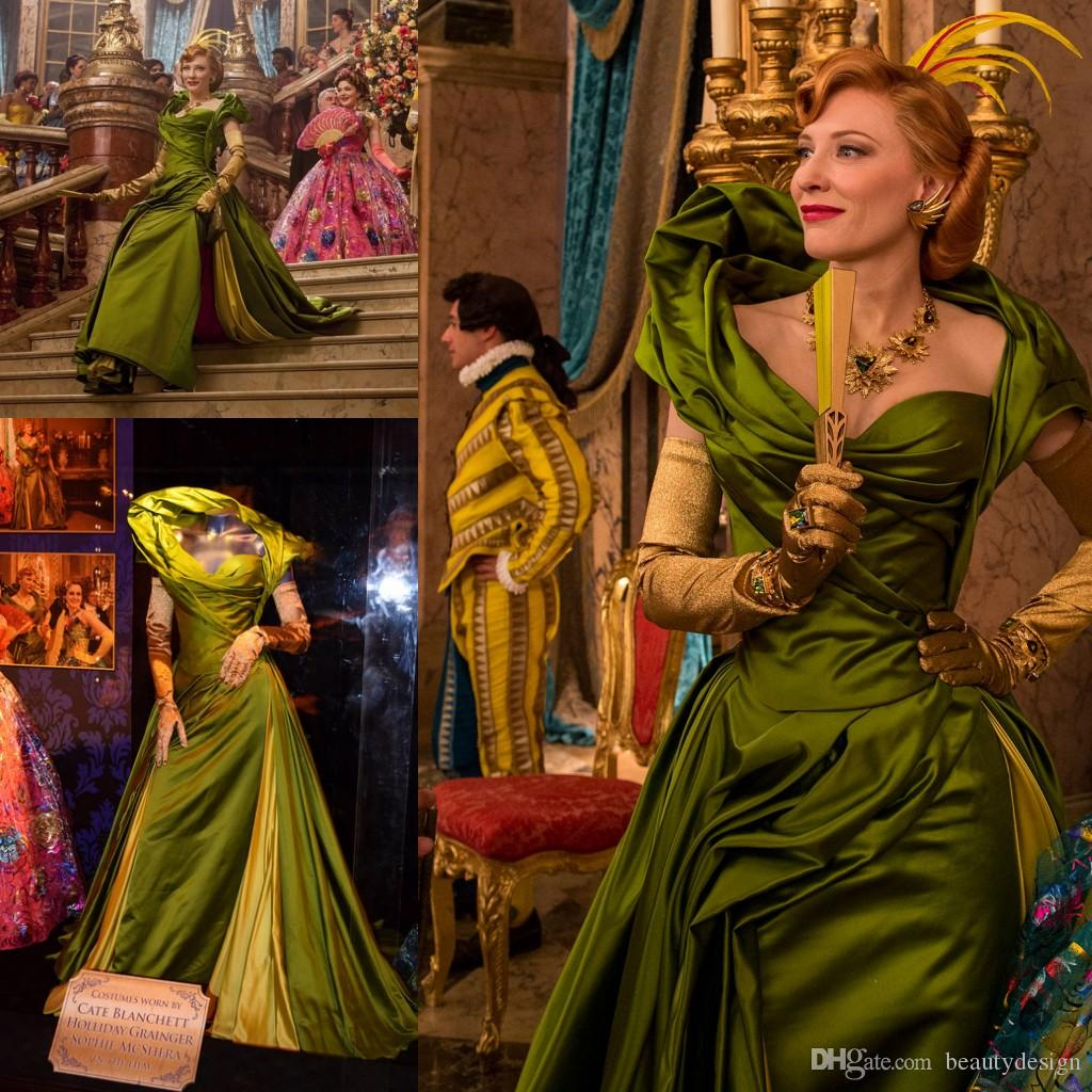 2015 Cinderella The Wicked Stepmother Costume Lady Tremaine Cosplay Dress Gown