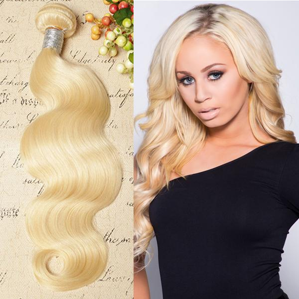 Blonde Virgin Indian Remy Body Wave Hair Extension Weave8 30