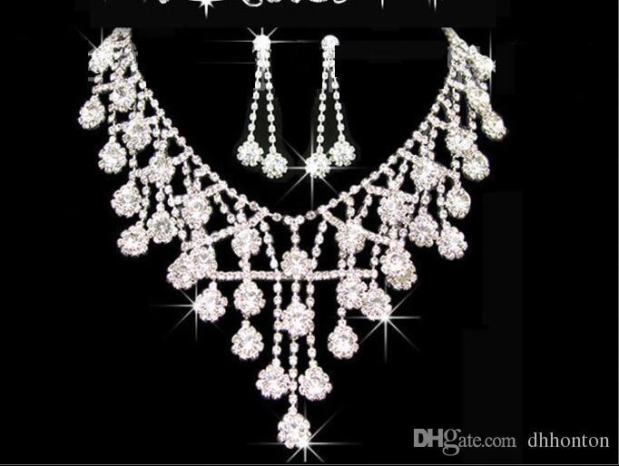 Tiaras Gold Tiaras Kronen Hochzeit Haarschmuck neceklace, Ohrring Günstige Großhandel Mode Mädchen Abend Prom Party Kleider Zubehör