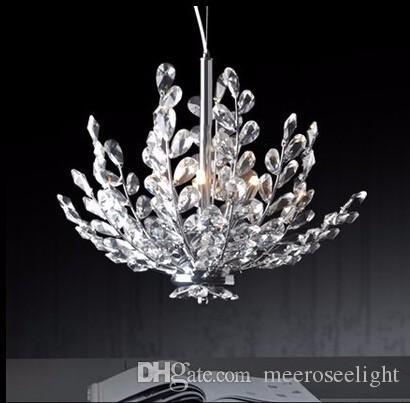 Modern Kristal Kolye Işık Fikstürü Vintage Çiçekli Fransız Kristal Cilası Asılı Lamba Süspansiyon Işık Lambası Ev Kapalı Aydınlatma MD2367
