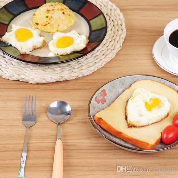 Molde para Huevo Frito de Acero Inoxidable 6 Formas Anillo para Panqueques de Huevo Molde para Moldeador Cocina Herramientas de Cocina Mantequilla de Huevo Frito