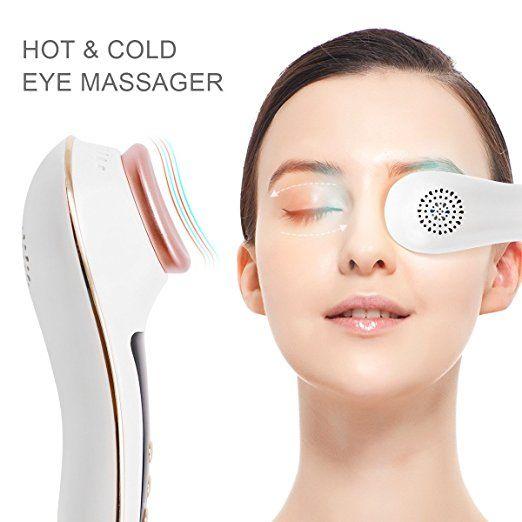 Sıcak Soğuk çekiç Anti-aging Kırışıklık Cihazı Sıkma Koyu Circles ve şişlik Cilt için Tamax UP006 Göz Masaj