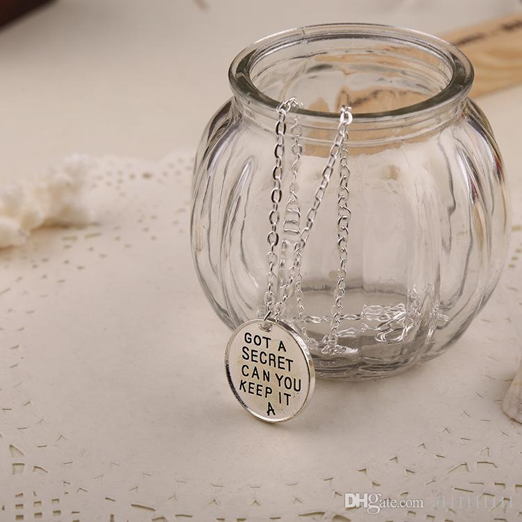 Statement Necklace Pretty Little Liars Got A Secret Can You Keep It Necklace Atmospheric Simple Necklaces Movie Jewelry