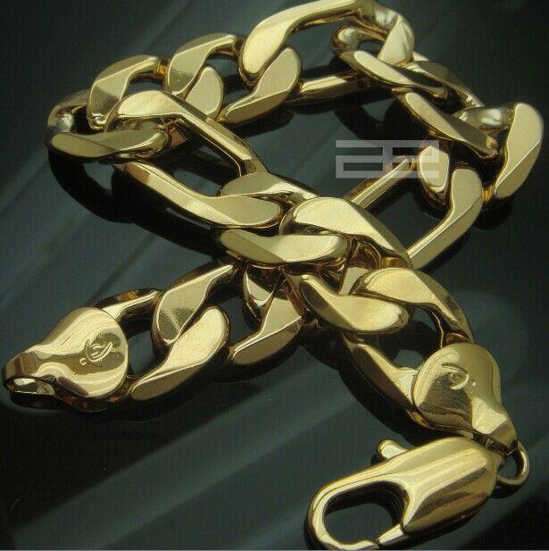 حلقات كبح رجالية من الذهب عيار 18 قيراط تربط أساور المجوهرات الراقية B129