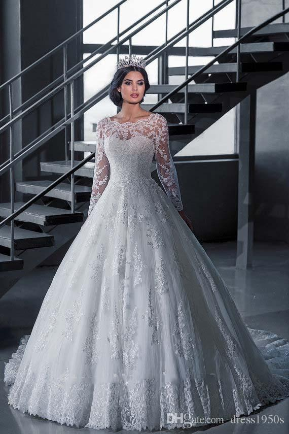 Cheap Vintage Puffy Wedding Dresses Discount Winter Wedding Dresses Mother  Bride b96da751e79a
