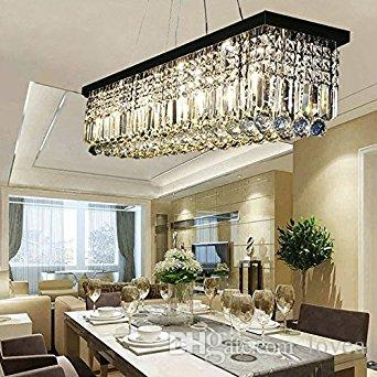 Color Clear Crystal Black Frame And Base Light Source 8x 25W 110V E12 Incandescent Bulbs Included Voltage