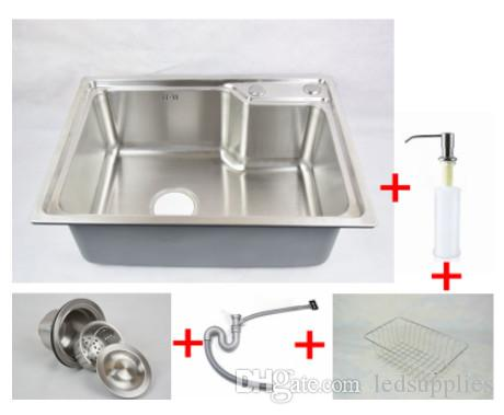304 Stainless Steel Kitchen Sink Forming One Thick Brushed-slot ...