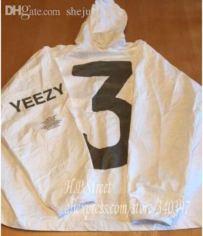 a7bc52baebe Fall Yeezy 3 Windbreaker Jacket Boost Kanye West X AD Season 1 NYC Event  Invitation Hooded Anorak Tyvek Paper Jackets White Fashionable Mens Jackets  ...