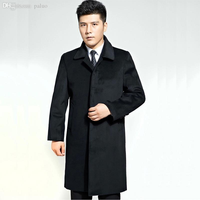 Best Fall Mens Trench Coat Cashmere Coat Thick Long Coat Winter ...