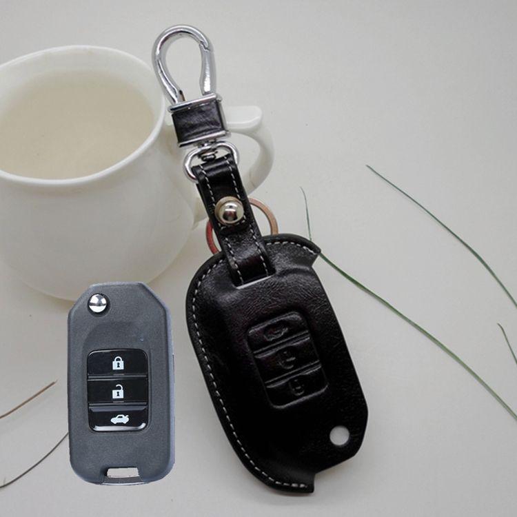 Fob Key Cover For Honda New Crv Civic Accord 9th Odoyssey Crosstour Flip Key Holder Wallets Case ...