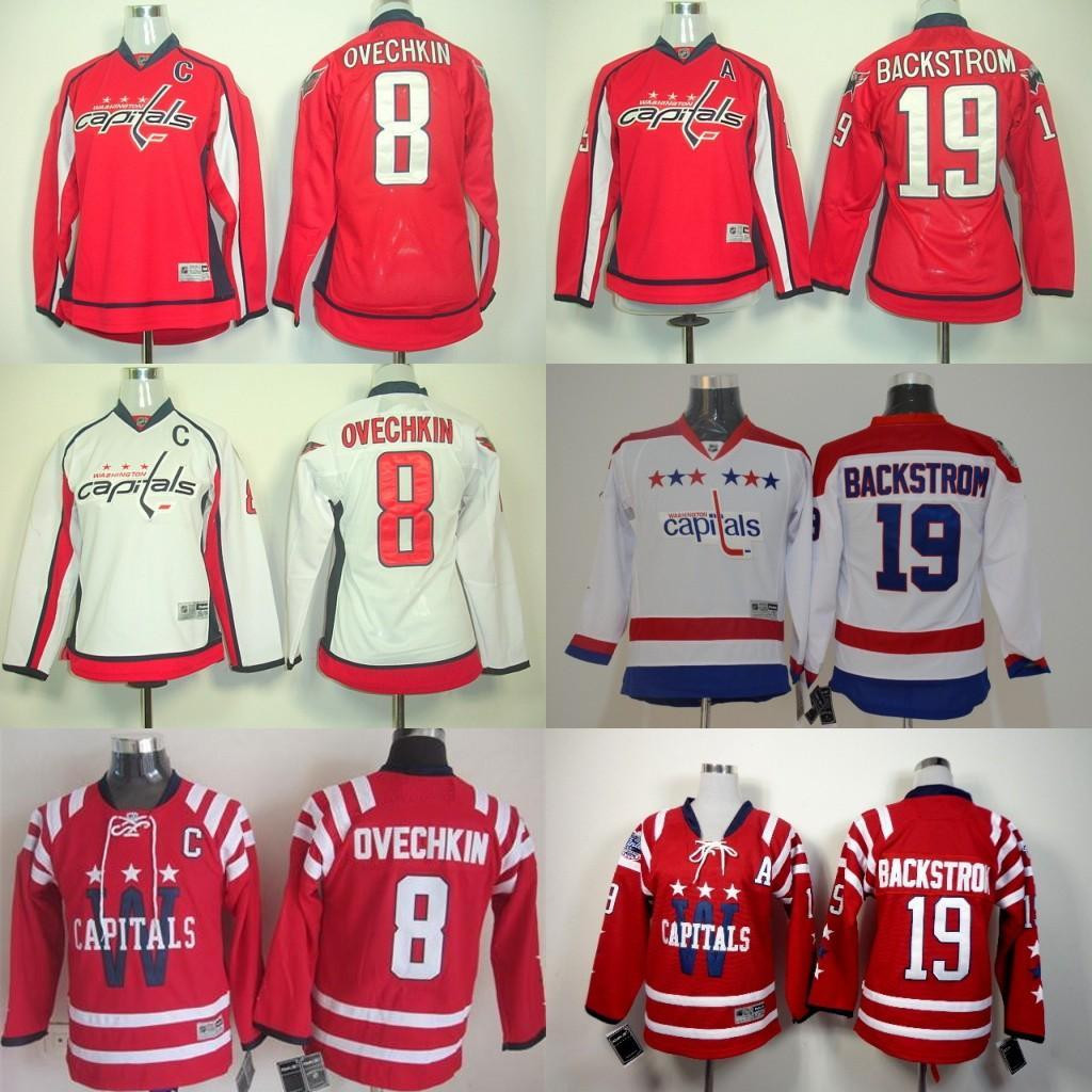 ab27e5e8983 ... Washington Capitals Hockey Jerseys Winter Classic 8 Alexander Ovechkin 19  Nicklas Backstrom 70 Braden Capitals 19 Nicklas Backstrom Stitched White  2011 ...
