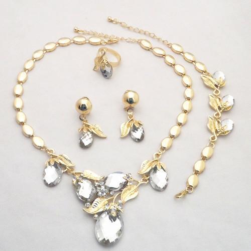 18k Yellow Gold Plated Wedding Bridal African Biżuteria Zestawy 729 Cena fabryczna!