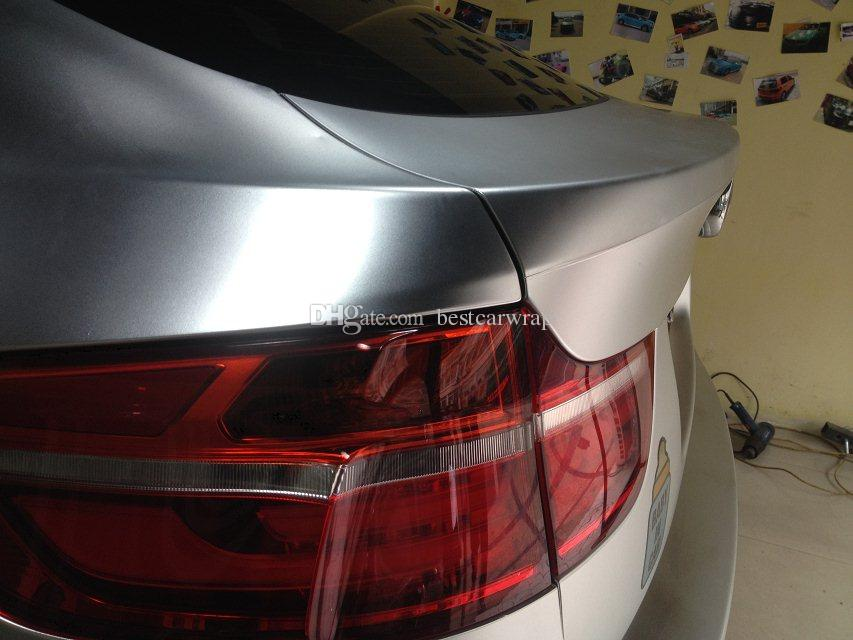 Satin chrome silver vinyl wrap Film For car wrap With Air Channle For Car styling Unique Wrap Foile1.52x20m/Roll