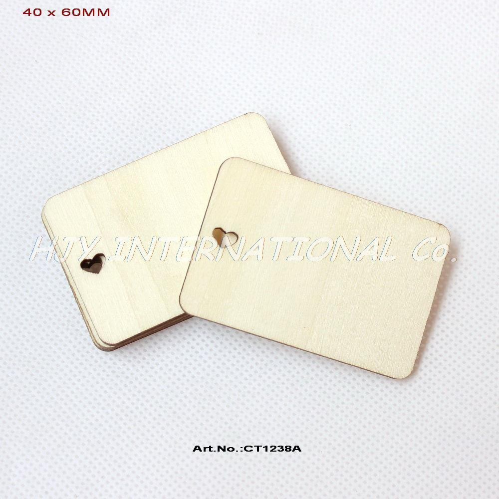 2018 Heart Cutout Unfinished Plain Wood Name Cards Greeting Cards