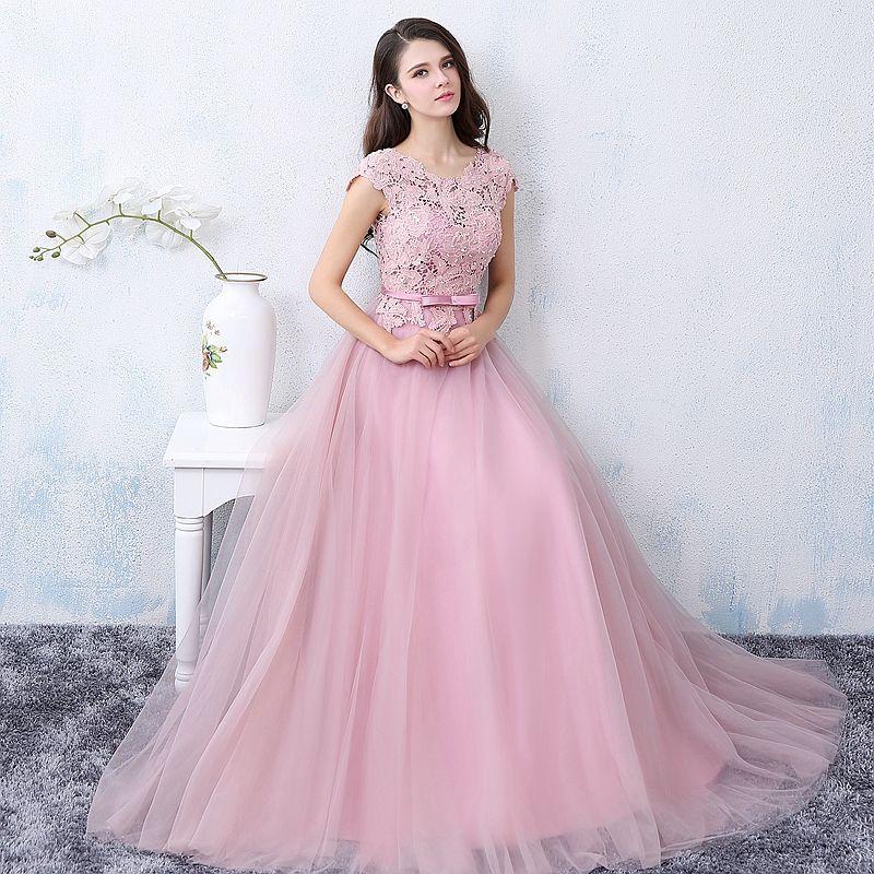 2016 New Sweet Dark Pink Lace Flower Evening Dress Bride Marrige ...
