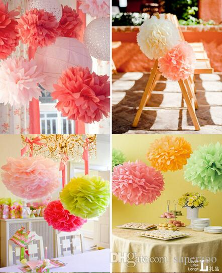 810 20 25cm Weddings Birthday Party Holiday Home Decorations Tissue