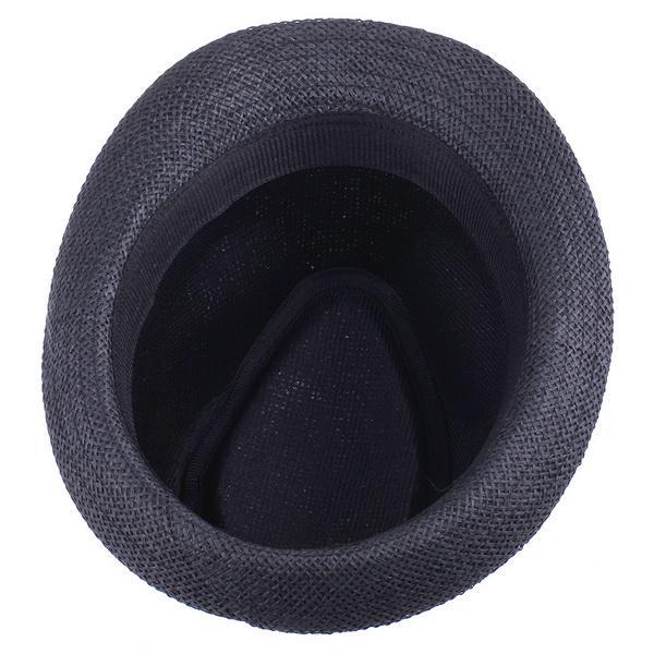 Vintage Style Panama Straw Hats Brand New Men Women Fedora Summer Stingy Brim Caps Black ZDS2*10