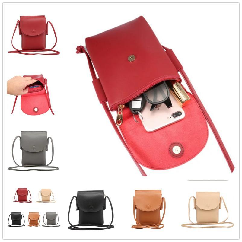 bb7d30ebe2ef eClouds PU Leather Phone Handbag Case Universal Key Glass Mobile Phone Bag  Pouch Girl s Crossbody Handbag Shoulder Purse For iphone Samsung